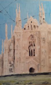 Mattino in cattedrale 100 x150 acrilico 2014