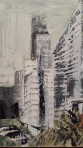 la piazza dei grattacieli
