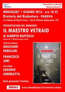 locandina invito Il maestro vetraio di Alberto RAffaelli