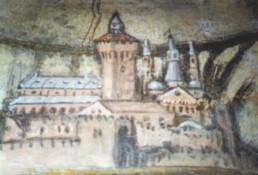 La città di Padova in uno degli affreschi dell'Oratorio del Redentore a Padova